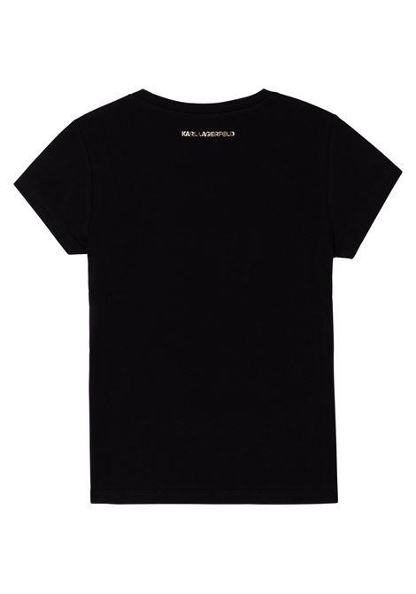 T-shirt con stampa K/Ikonic KARL LAGERFELD KIDS | Z1533009B