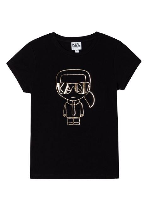 T-shirt con stampa K/Ikonic KARL LAGERFELD KIDS | Z15330T09B