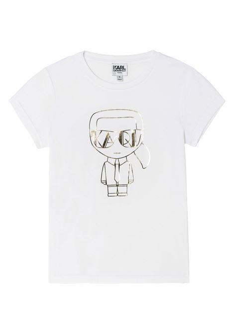 T-shirt con stampa K/Ikonic KARL LAGERFELD KIDS | Z15330T10B