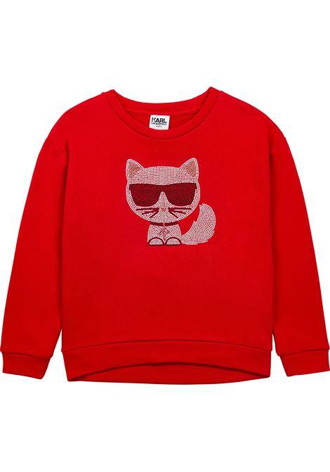 K / Choupette studded sweatshirt KARL LAGERFELD KIDS | Z15338963
