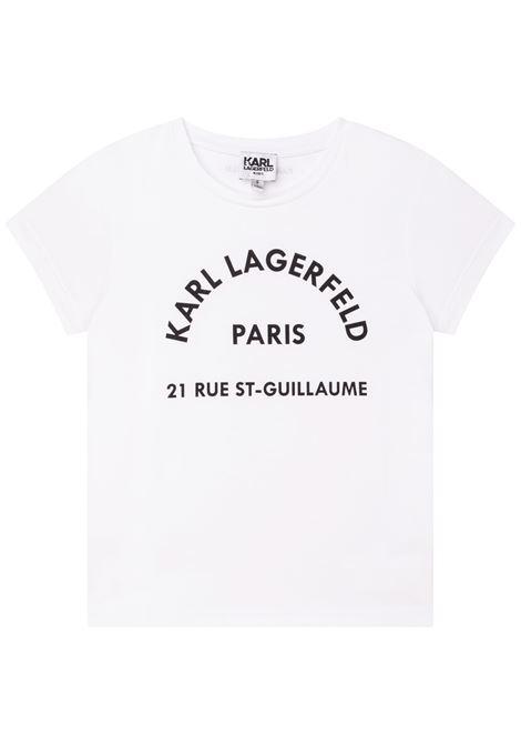 T-shirt con stampa KARL LAGERFELD KIDS | Z15T5910B