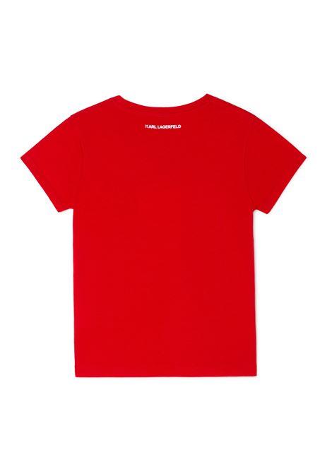 T-shirt con stampa KARL LAGERFELD KIDS | Z15T59963