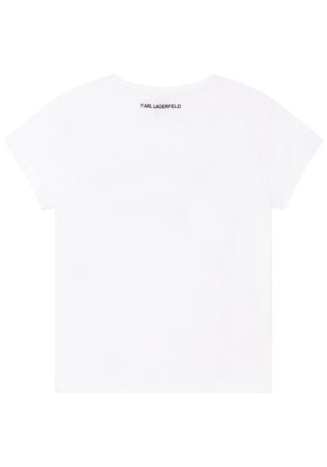T-shirt con stampa KARL LAGERFELD KIDS | Z15T59T10B