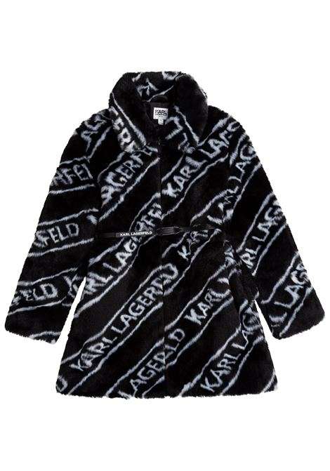 Coat with all-over logo KARL LAGERFELD KIDS | Z1612309B