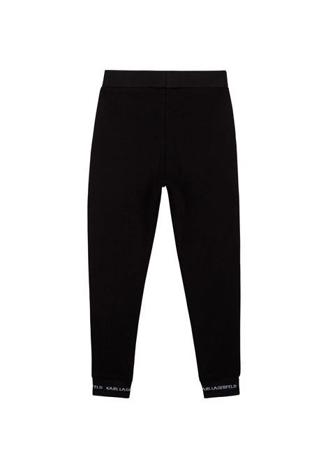 Pantaloni sportivi con stampa KARL LAGERFELD KIDS | Z2412209B