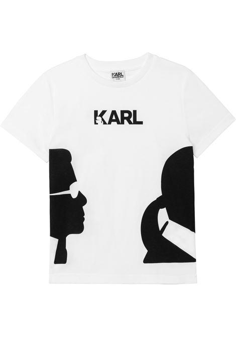 T-shirt Karl con logo KARL LAGERFELD KIDS | Z2530110B