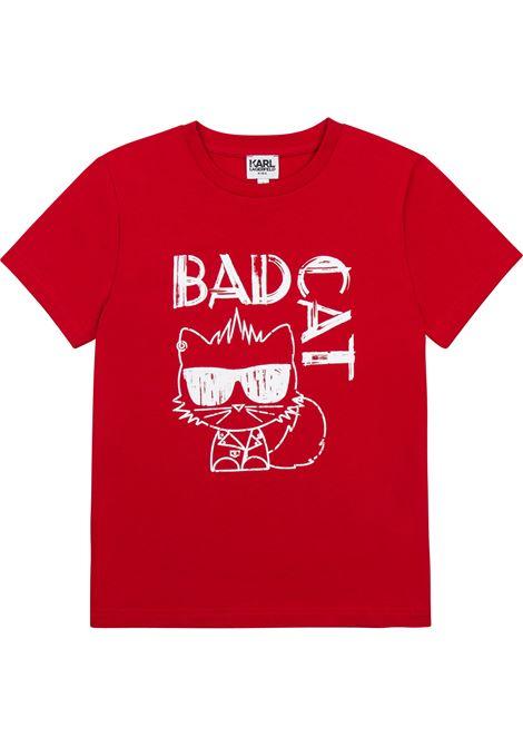 T-shirt Bad Cat KARL LAGERFELD KIDS | Z25303963