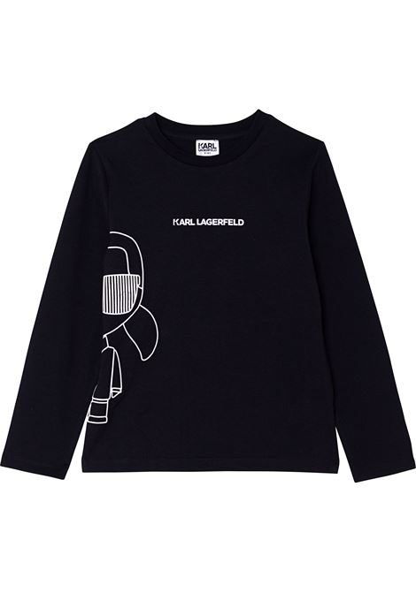 T-shirt con stampa KARL LAGERFELD KIDS | Z2530609B