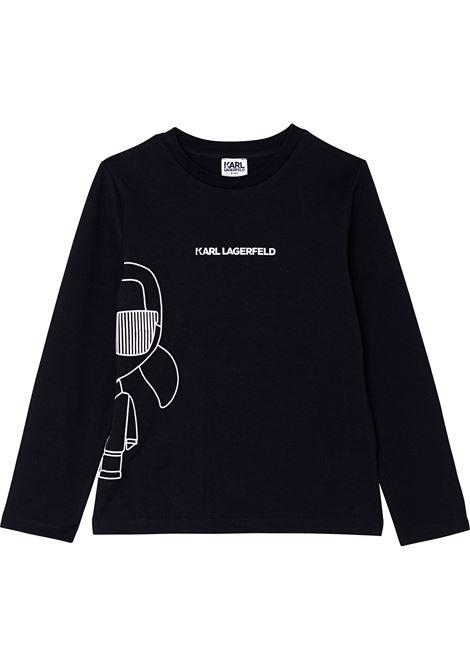 T-shirt con stampa KARL LAGERFELD KIDS | Z25306T09B