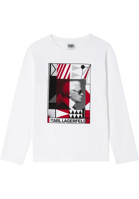 T-shirt Karl con logo KARL LAGERFELD KIDS | Z2530710B