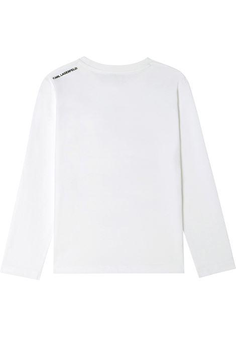 T-shirt Karl con logo KARL LAGERFELD KIDS | Z25307T10B