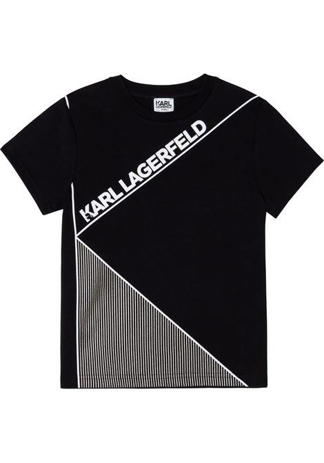 T-shirt con stampa KARL LAGERFELD KIDS | Z25312T09B
