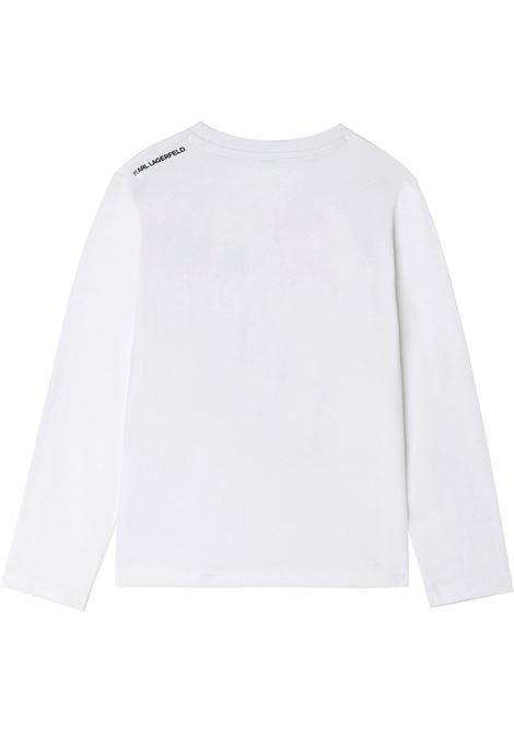 T-shirt con stampa KARL LAGERFELD KIDS | Z2531510B
