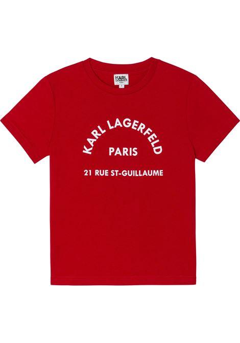T-shirt con stampa KARL LAGERFELD KIDS | Z25316963