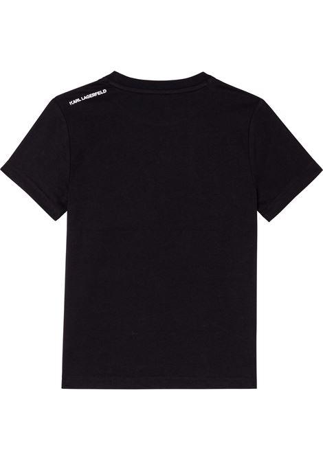 T-shirt con stampa KARL LAGERFELD KIDS | Z25316T09B