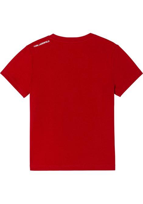 T-shirt con stampa KARL LAGERFELD KIDS | Z25316T963