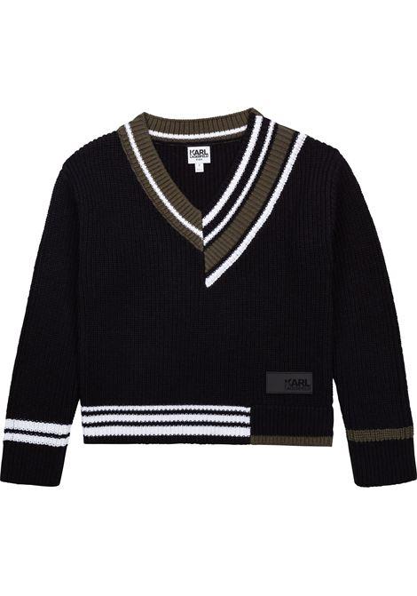 Sweater with application KARL LAGERFELD KIDS | Z25318T09B