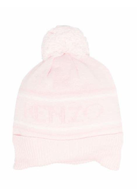 Hat with print and pompom KENZO KIDS | K01004454