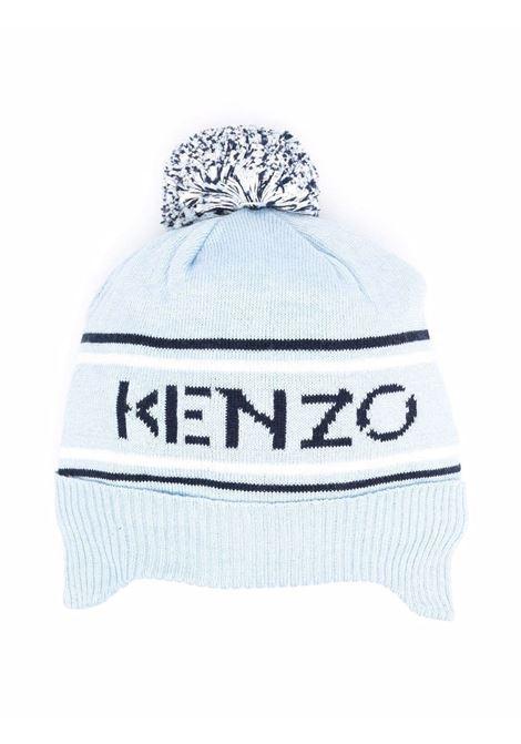 Hat with print and pompom KENZO KIDS | K01005777