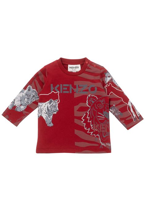 T-shirt with long sleeves KENZO KIDS | K0511596D