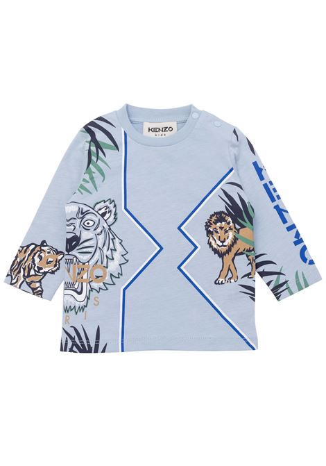 T-shirt with long sleeves KENZO KIDS | K0511777D