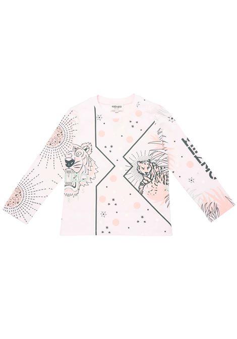 T-shirt con stampa KENZO KIDS   K15150454