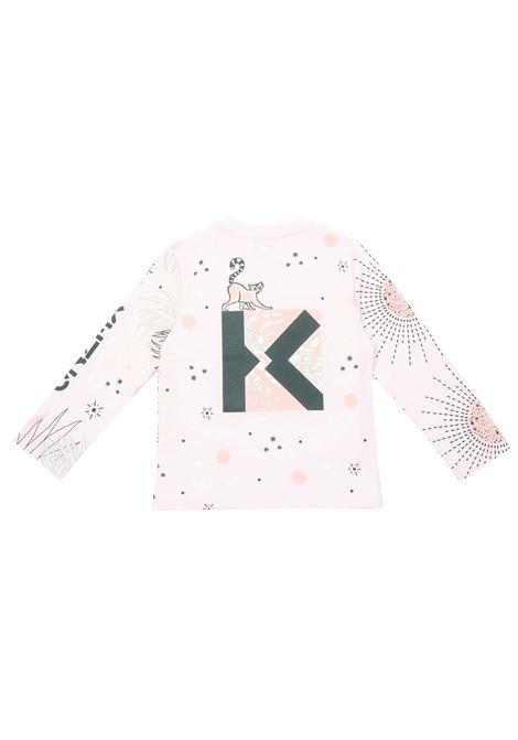 T-shirt con stampa KENZO KIDS   K15150T454
