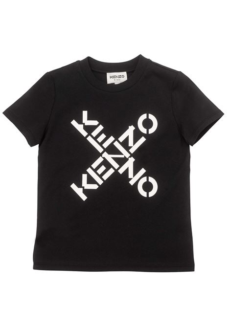 T-shirt con stampa KENZO KIDS   K1516109P