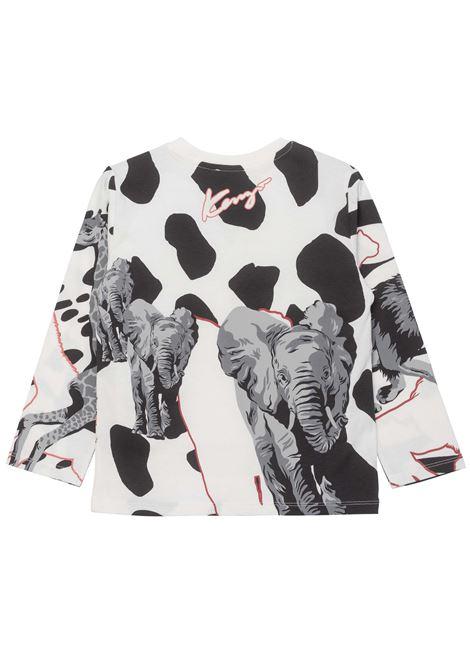 T-shirt con stampa KENZO KIDS   K15162T152
