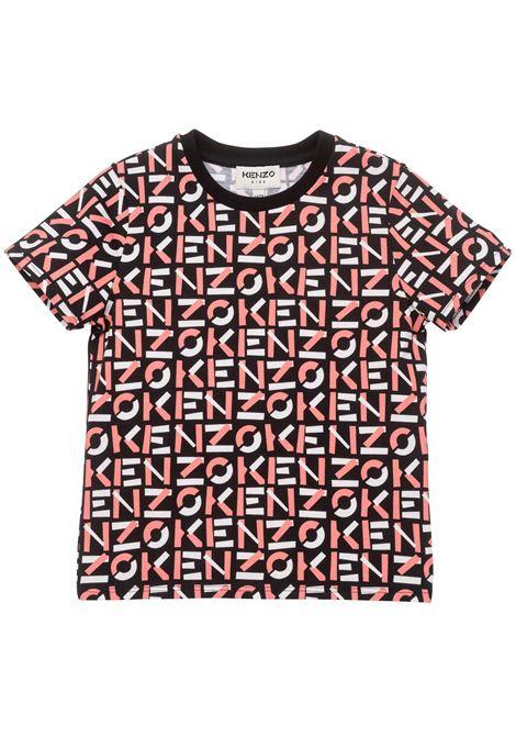 T-shirt con stampa KENZO KIDS   K1516609P