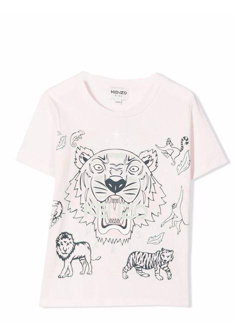 Little girl t-shirt with logo KENZO KIDS | K15169T454