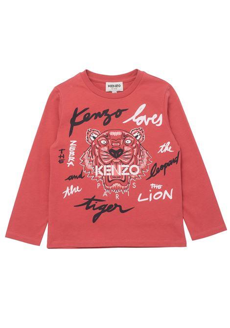 T-shirt con stampa KENZO KIDS   K15170T48B