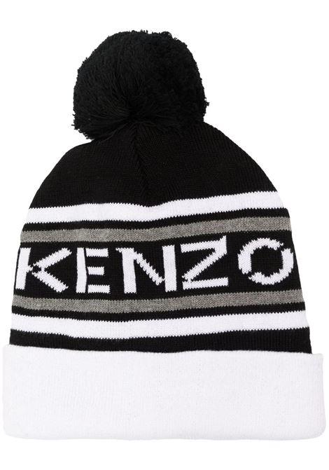 Cappello con stampa e pompon KENZO KIDS | K5100509P