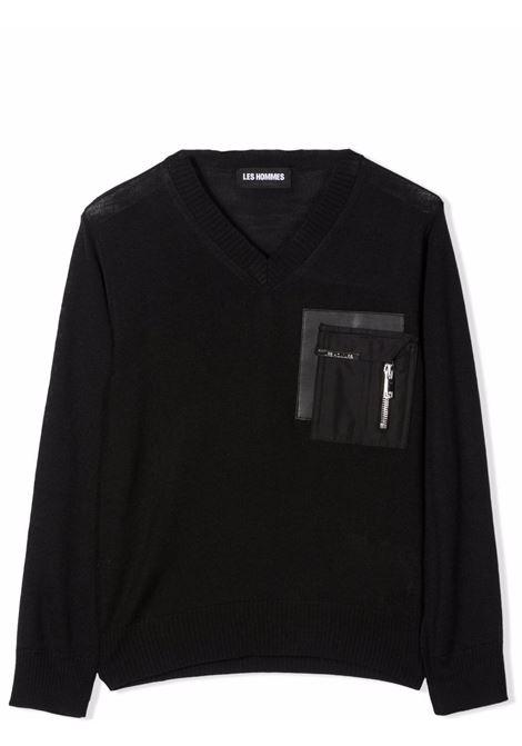 Sweater with pocket LES HOMMES | KLK115653AT900