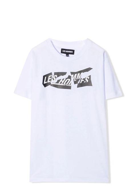 Crewneck T-Shirt with print LES HOMMES | KLT202739P1000