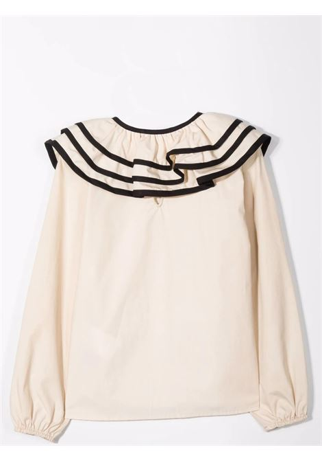 Blouse with contrasting collar Lù-Lù BY MISS GRANT | LL057605
