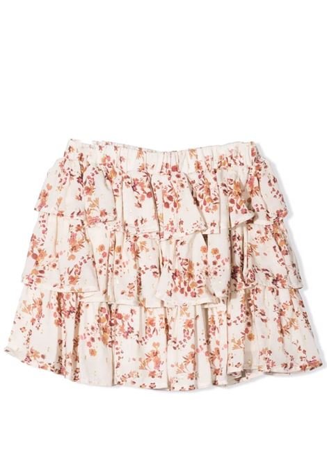 Floral skirt with ruffles Lù-Lù BY MISS GRANT | LL0679T03
