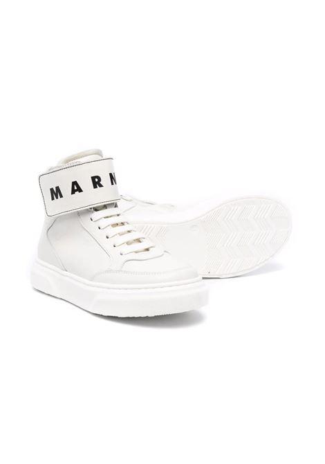 Sneakers alte con logo MARNI KIDS | 690083