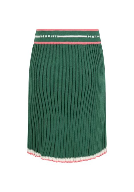 Ribbed skirt with logo MARNI KIDS | M00197 M00JW0M523