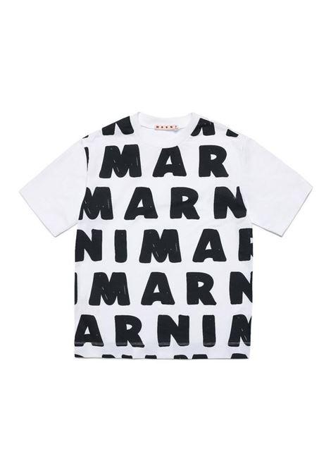 T-shirt con stampa MARNI KIDS | M00284 M00KH0M100