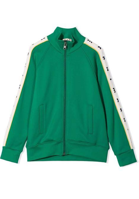 Logo bomber jacket MARNI KIDS | M00299 M00KNT0M523