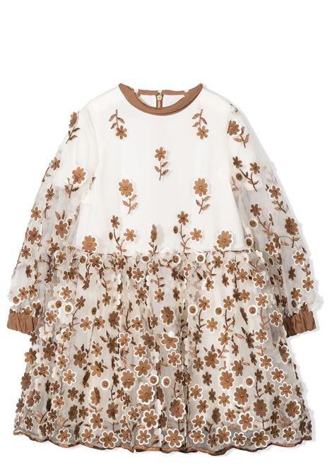 Floral flared dress MIMISOL | MFAB351 TS0495BGE