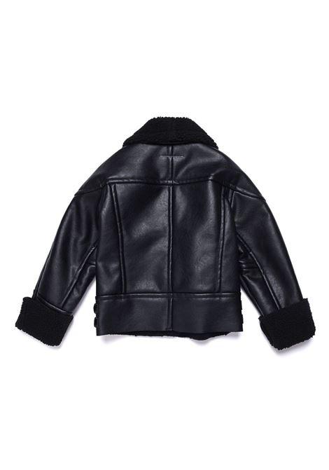 Biker jacket with off-center zip MM6 KIDS MAISON MARGIELA | M60001 MM000TM6900