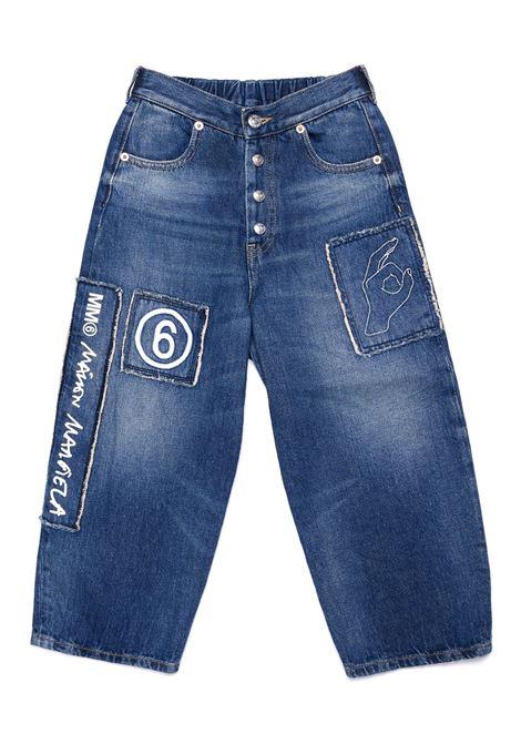 Jeans con stampa MM6 KIDS MAISON MARGIELA | M60062 MM018M601