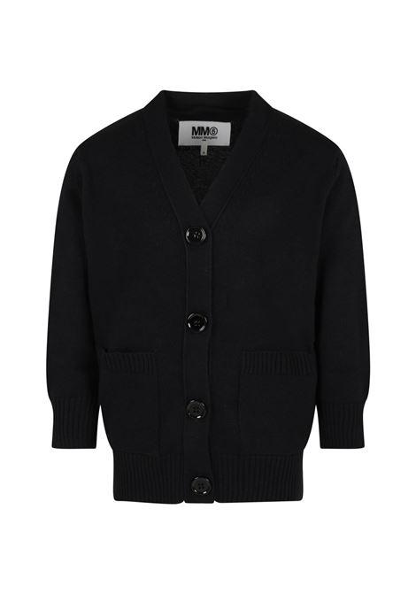 Black cardigan MM6 KIDS MAISON MARGIELA | M60065 MM027M6900