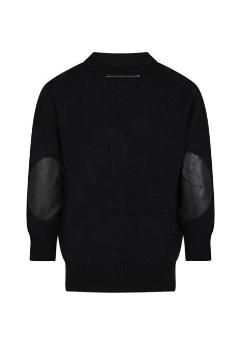 Black cardigan MM6 KIDS MAISON MARGIELA | M60065 MM027TM6900