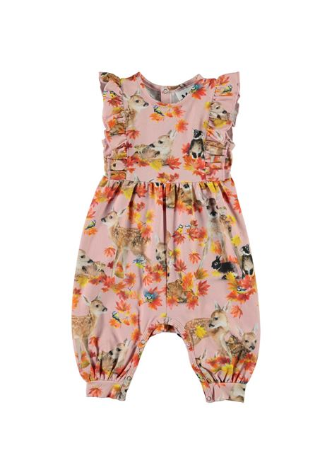 Baby girl jumpsuit with autumn print MOLO KIDS | 4W21B3026373