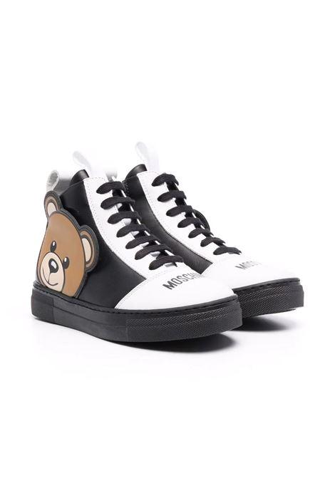 Sneakers alta con logo MOSCHINO KIDS | 687501