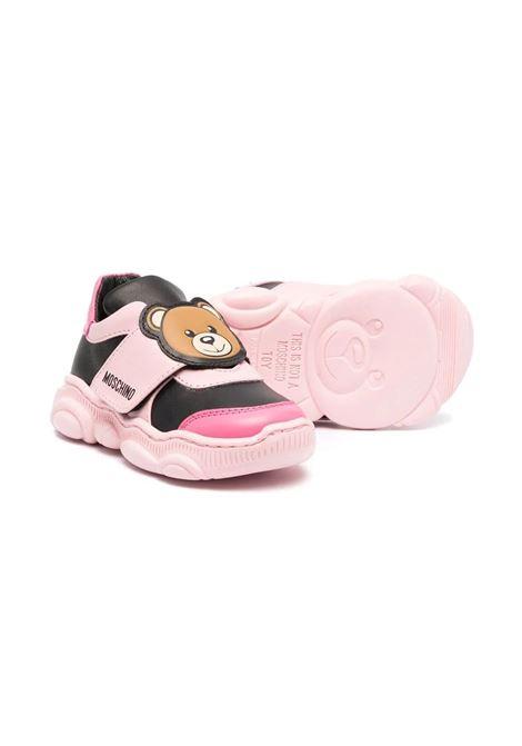 Sneakers con chiusure a strappo MOSCHINO KIDS | 687831