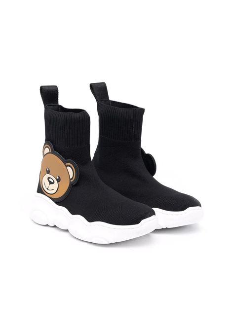 Sneakers con motivo Teddy Bear MOSCHINO KIDS | 689071